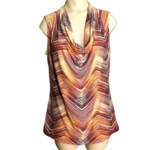 Worthington stripe sleeveless blouse